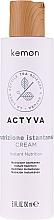 Parfémy, Parfumerie, kosmetika Bezoplachový krém na suché vlasy - Kemon Actyva Nutrizione Istantanea Cream