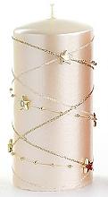Parfémy, Parfumerie, kosmetika Dekorativní svíčka, krémová, 7x10 cm - Artman Christmas Garland
