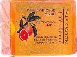 """Parfémy, Parfumerie, kosmetika Glycerinové mýdlo """"Citrusový fresh"""" - Le Cafe de Beaute Glycerin Soap"""