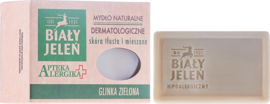 Zelené jílové dermatologické mýdlo - Bialy Jelen Apteka Alergika Soap — foto N1