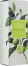 Parfémy, Parfumerie, kosmetika Maurer & Wirtz 4711 Aqua Colognia Lime & Nutmeg - Sprchový gel