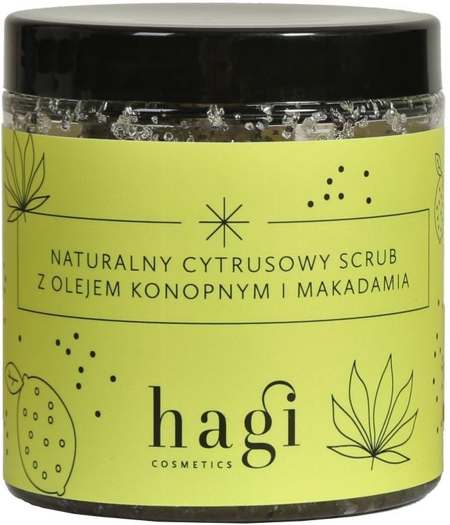 Přírodní citrusový scrub s konopím a makadamovým olejem - Hagi Scrub — foto N1