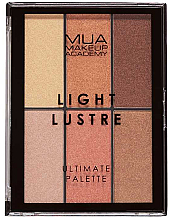 Parfémy, Parfumerie, kosmetika Paletka na líčení - MUA Light Lustre Ultimate Palette Bronze, Blush, Highlight