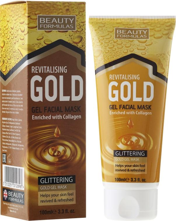 Maska pro hluboké čištění - Beauty Formulas Gold Gel Facial Mask