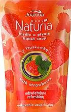 "Parfémy, Parfumerie, kosmetika Tekuté mýdlo ""Jahoda"" - Joanna Naturia Body Strawberry Liquid Soap (Refill)"