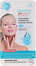 Parfémy, Parfumerie, kosmetika Gelové náplasti pod oči - Dermo Pharma 4D Moisturizing & Refreshing Gel Patches