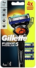Parfémy, Parfumerie, kosmetika Holicí strojek s 4 náhradními hlavicemi - Gillette Fusion5 ProGlide