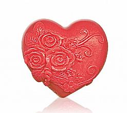 Parfémy, Parfumerie, kosmetika Glycerinové mýdlo Heart in love, červené - Bulgarian Rose Soap