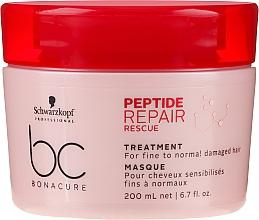 Parfémy, Parfumerie, kosmetika Regenerační maska pro tenké a normální poškozené vlasy - Schwarzkopf Professional BC Bonacure Peptide Repair Rescue Treatment Mask