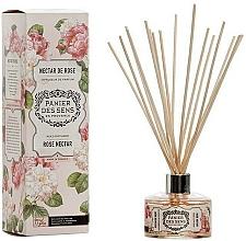Parfémy, Parfumerie, kosmetika Aroma difuzér Růžový nektar - Panier Des Sens Rose Nectar Reed Diffuser