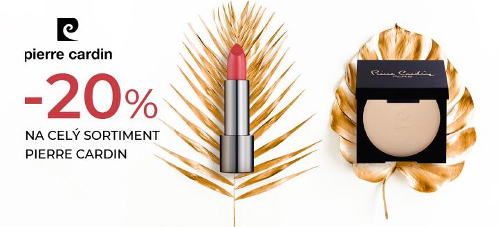 Sleva -20% na celý sortiment Pierre Cardin. Ceny na webu jsou uvedeny po slevě