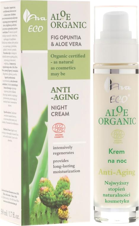 Noční krém na obůičej - Ava Laboratorium Aloe Organiic Night Cream
