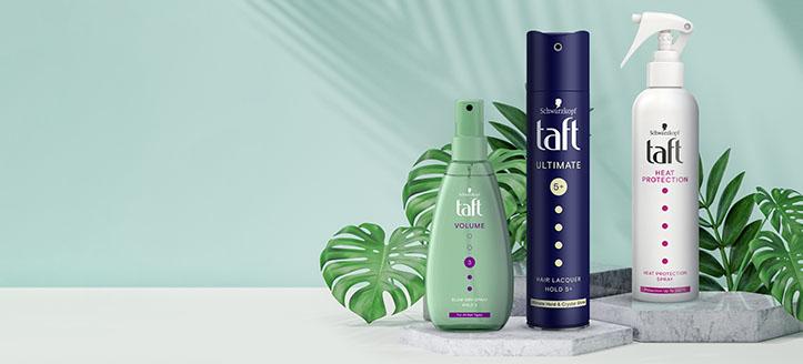 Sleva až -20% na vybrané produkty Taft. Ceny na webu jsou včetně slev