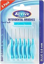 Parfémy, Parfumerie, kosmetika Mezizubní kartáče, 0,6mm, modré - Beauty Formulas Active Oral Care Interdental Brushes Blue