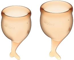 Parfémy, Parfumerie, kosmetika Sada menstruačních kalíšků, oranžové - Satisfyer Feel Secure Menstrual Cups