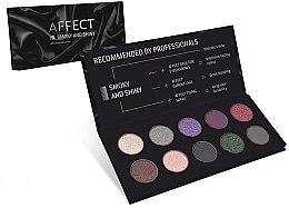 Parfémy, Parfumerie, kosmetika Lisovaná paleta očních stínů - Affect Cosmetics Smoky And Shiny Eyeshadow Palette