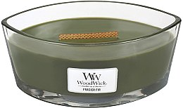 Parfémy, Parfumerie, kosmetika Vonná svíčka ve skle - WoodWick Hearthwick Flame Ellipse Candle Frasier Fir
