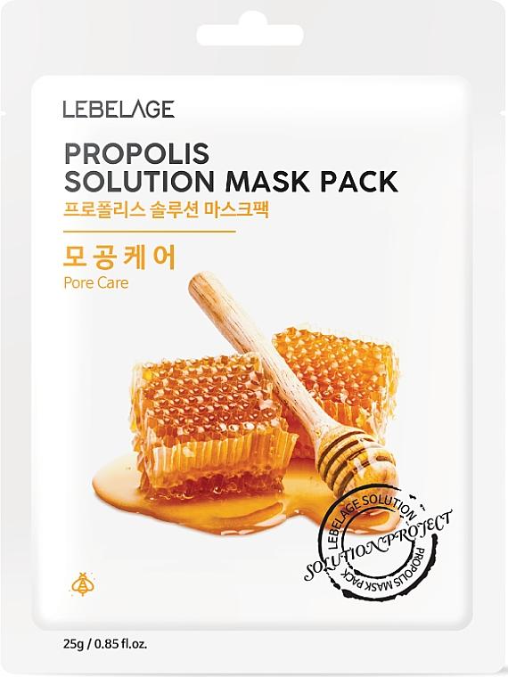 Pleťová maska látková s propolisem - Lebelage Propolis Solution Mask