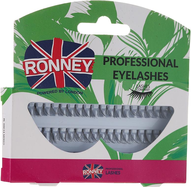 Umělé řasy v trsech, 10,12,14 mm - Ronney Professional Eyelashes 00034