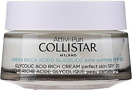 Parfémy, Parfumerie, kosmetika Nasycený krém s kyselinou glykolovou pro dokonalou pokožku - Collistar Pure Actives Glycolic Acid Rich Cream SPF20