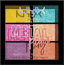 Parfémy, Parfumerie, kosmetika Paleta pigmentů na líčení očí, obličeje a těla - NYX Professional Makeup Metal Play Pressed Pigment Palette
