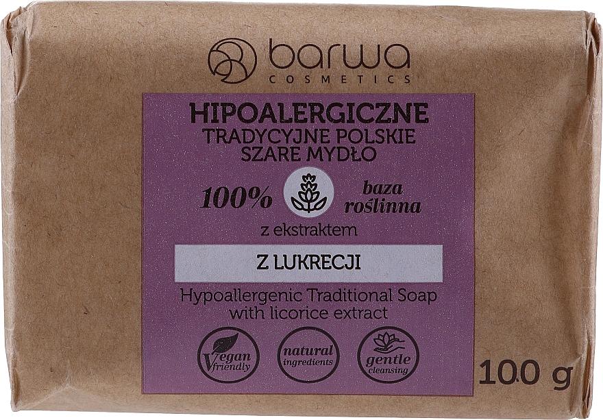 Tradiční šedé mýdlo s extraktem z lékořice - Barwa Hypoallergenic Traditional Soap With Licorice Extract