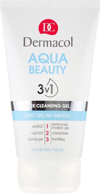 Čisticí gel - Dermacol Aqua Beauty 3v1 Face Cleansing Gel