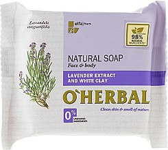 Parfémy, Parfumerie, kosmetika Přírodní mýdlo s výtažkem z levandule a bílou hlínou - O'Herbal Natural Soap