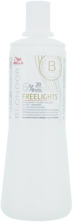 Oxidant 6% - Wella Professionals Blondor Freelights Oxydant 6% 20 vol  — foto N1