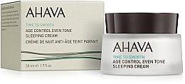 Parfémy, Parfumerie, kosmetika Regenerační noční krém, vyhlazující tón pleti - Ahava Age Control Even Tone Sleeping Cream