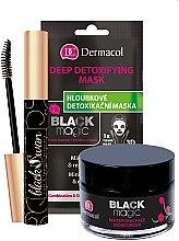 Parfémy, Parfumerie, kosmetika Sada - Dermacol Black Magic (f/gel/50ml + f/mask/1pc + mascara/10ml)
