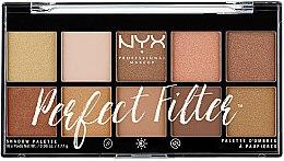 Parfémy, Parfumerie, kosmetika Paleta očních stínů - NYX Professional Makeup Perfect Filter Shadow Palette