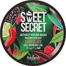 """Parfémy, Parfumerie, kosmetika Výživná tělová maska-peeling s cukrové třtiny """"Čokoláda s chilli a ovocem"""" - Farmona Sweet Secret Chocolate Peeling-mask"""