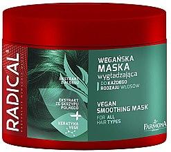 Parfémy, Parfumerie, kosmetika Vyhlazující maska na vlasy s lesklým efektem - Farmona Radical Vegan Smoothing Hair Mask