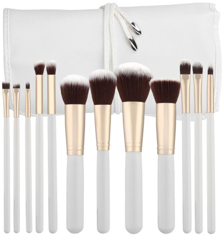 Sada štětců na líčení, bílá, 12ks - Tools For Beauty