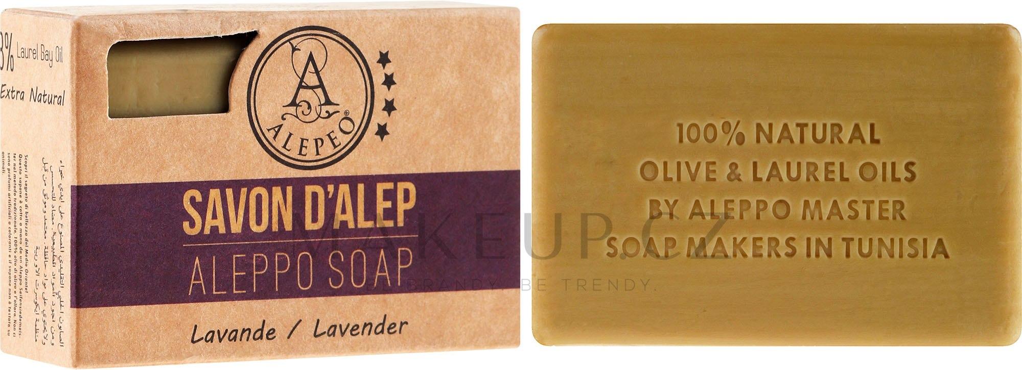 Alepské mýdlo s levandulí - Alepeo Aleppo Soap Lavender 8% — foto 100 g