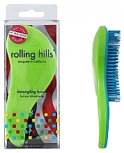 Parfémy, Parfumerie, kosmetika Kartáč na vlasy, zelený - Rolling Hills Detangling Brush Travel Size Shine Green