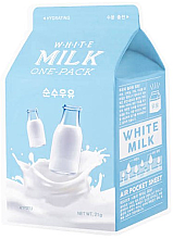 Parfémy, Parfumerie, kosmetika Látková maska hydratační White Milk - A'Pieu Milk One-Pack Hydrating White Milk