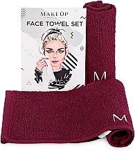 """Parfémy, Parfumerie, kosmetika Cestovní sada ručníků, vínově červené """"MakeTravel"""" - Makeup Face Towel Set"""
