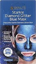 Parfémy, Parfumerie, kosmetika Peelingová maska s leskem - Skinlite Starkle Diamond Glitter Blue Mask