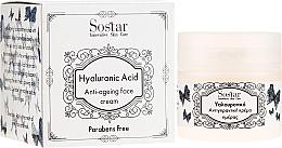 Parfémy, Parfumerie, kosmetika Antivěkový krém na obličej s kyselinou hyaluronovou - Sostar Hyaluronic Acid Anti-Aging Face Cream