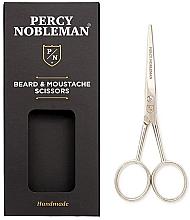 Parfémy, Parfumerie, kosmetika Nůžky na vousy a knír - Percy Nobleman Beard & Moustache Scissors