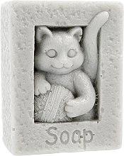"""Parfémy, Parfumerie, kosmetika Přírodní mýdlo """"Kočka s míčem"""", šedé - LaQ Happy Soaps"""