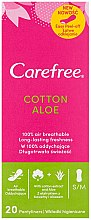 Parfémy, Parfumerie, kosmetika Hygienické denní vložky s extraktem z aloe, 20ks - Carefree Cotton Aloe