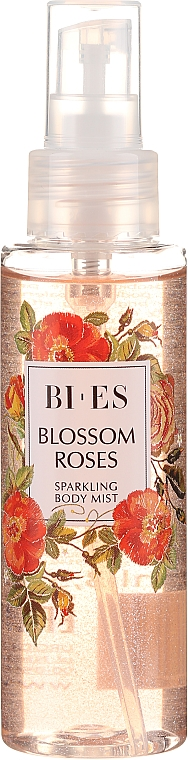 Bi-es Blossom Roses Sparkling Body Mist - Parfémovaný tělový sprej se třpytkami — foto N2