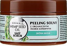 Parfémy, Parfumerie, kosmetika Solný tělový peeling s organickým konopným olejem - GlySkinCare Hemp Seed Oil Salt Scrub