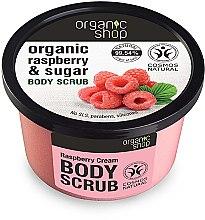 """Parfémy, Parfumerie, kosmetika Tělový peeling """"Malinový krém """" - Organic Shop Body Scrub Organic Raspberry & Sugar"""