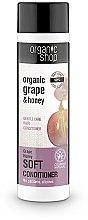 """Parfémy, Parfumerie, kosmetika Balzám na vlasy """"Měkká péče.Hroznový med"""" - Organic Shop Organic Grape and Honey Soft Conditioner"""