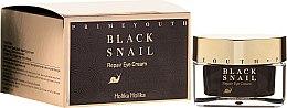 Parfémy, Parfumerie, kosmetika Oční krém obnovení s extraktem z černého hlemýždě - Holika Holika Prime Youth Black Snail Repair Eye Cream