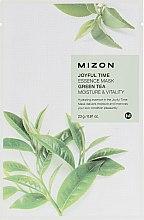 Parfémy, Parfumerie, kosmetika Látková maska s extraktem zeleného čaje - Mizon Joyful Time Green Tea Essence Mask
